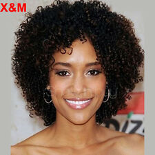 Short Bob Hair Curly Wigs For Black Women Afro kinky Curly Black mix Brown Wigs