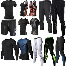 Mens Compression Set Sports Apparel Skin Tights Base Under Layer T- Shirts Pants