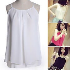 Women Chiffon Vest Tank Tops Sleeveless T-shirt Casual Loose Blouse Camisole