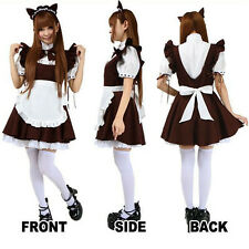 Women Sexy Hot Cute Party Club Cosplay Maid Costume Waitress Bowknot Fancy Dress