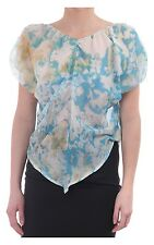 Women's Vivienne Westwood Anglomania Sheer Printed Oversized Top Turq
