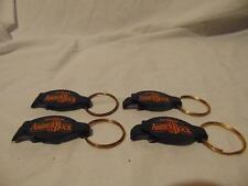 lot of (4) Unused New Michelob Amber Rock key ring Bottle Cap openers