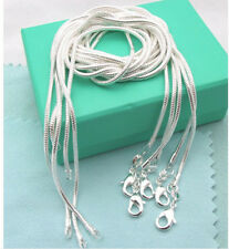 Xmas!Wholesale New Fashion 5PCS 925Sterling1 Silver 2MM Snake Chains&Necklace