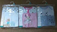 "NEW IN PACKET. PK OF 2 SLEEPSUITS DISNEYS ""MICKEY MOUSE"" ""MINNIE MOUSE"" ""ROO"""