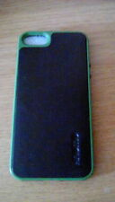 knomo leather case for iPhone 5 black/green