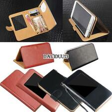 window view Flip Leather Wallet Stand Cover Case For Various Xolo Smartphones