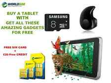 """UNLOCKED 7"""" ANDROID TABLET WIFI 3G  Samsung 8GB SD Cheap Basic SMARTPHONE TAB"""