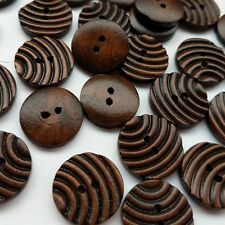 20/50/100pcs Wood Button Sewing Buttons Craft Doll Kid Appliques