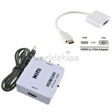 Mini Composite 1080P HDMI to RCA Audio Video AV Adapter Converter For HDTV New
