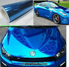 All Sizes Car Auto Glossy Blue Mirror Chrome Vinyl Wrap Sheet Film Sticker Decal