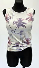 New Ladies Womens Casual Palm Leaf Print Blouse T-Shirt Day Holiday Vest Top