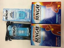 Bengay Pain Relieving Menthol Gel Vanishing Scent 4oz, 3oz, 4 Patch & 5 Patch