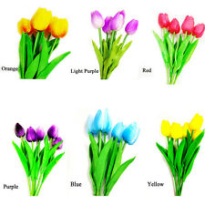 5pcs/lot  PU Artificial Bouquets Real Touch Latex Tulip Flower For Decor