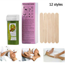 12 Style 100g Roll On Hot Depilatory Wax Cartridge Heater Waxing Hair Removal