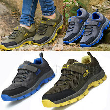 Boys Junior Youth Mesh Sports Running Sneaker Outdoor Hiking Shoes Walking Boots