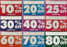 Discount/Sale Cards - Sale Posters - Sale Stickers - 10% Off Poster