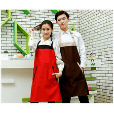Unisex Cafe Waiter Uniform Apron Kitchen Restaurant Cooking Bib Dress Apron