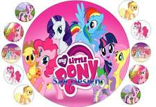 7 inch My Little Pony and 10 cup cake topper on Edible Rice Paper