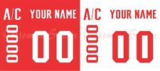 WCH 2016 Team Canada Hockey Jersey Customized Number Kit un-sewn