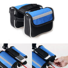 New Trame Pannier 600D Cycling Bike Bicycle Front Tube Bag With Rain Cover