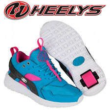Heelys Force Kids Roller Skates Trainers Aqua Blue Pink Girls Summer Shoes