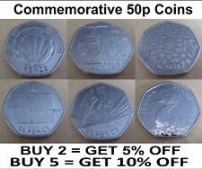 Commemorative Rare Collectible 50p Coins Jemima Duck Peter Nutkin WWF Olympics