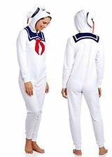 Ghostbusters Stay Puft Marshmellow Women's Union Suit Onesie Pajamas