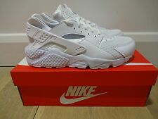 NIKE AIR HUARACHE - TRIPLE WHITE / PURE PLATINUM *BNIB*  UK SIZE 8 + 9