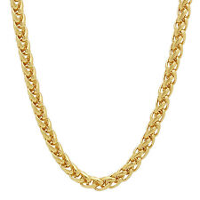 5mm 14k Gold Plated Wheat Chain