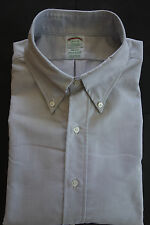NWOT Brooks Brothers Gray Oxford Cloth Button Down 15.5-31 Milano MSRP $140