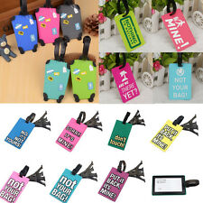 1 pcs Luggage Tag Suitcase Label Name Address ID Bags Baggage Holiday Travel Tag