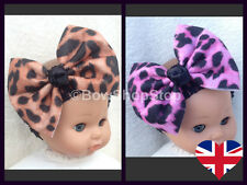 Leopard Animal Print Hair Bow Headband Baby Girl Child