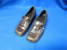 AK ANNE KLEIN iFLEX BROWN LEATHER LOAFERS / PUMPS WOMENS 7 M