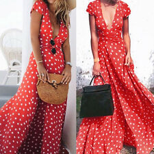 Plus S~XL Boho Womens Long Party Evening Cocktail Summer Beach Dress Sundress