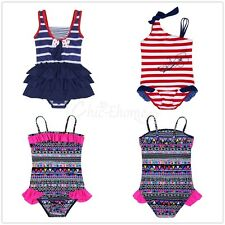 Cute Girl Kids Swimwear one piece Striped Bathing Suits Bathers Costume Swimmers