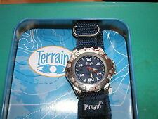 ' terrain' wrist watch blue face