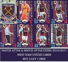 Topps Match Attax & Match Attax Extra 2016 2017 Choose WEST HAM UNITED card