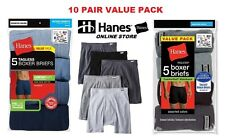 Hanes Men's Boxer Briefs 10 Pk Assorted Colors Tagless (Comfort Soft Waistband)