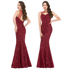 SEQUINS MERMAID Long Formal Evening DRESS Celebrity Pageant Party Prom Ball Gown