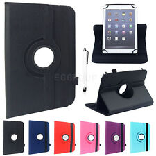 """Rotating Universal Leather Stand Case Cover Gift For 9.7"""" 10"""" 10.1"""" inch Tablets"""