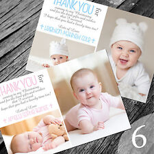 Personalised Photo Boy / Girl CHRISTENING / Baptism / THANK YOU cards (CTY6)