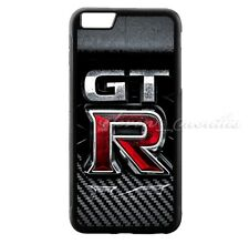Nissan GTR Logo Carbon for iPhone 6s 6s+ 7 7+ Hard Plastic Cover Case