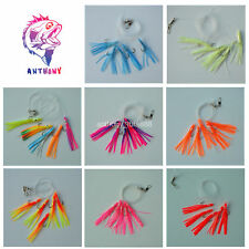 10X  Sabiki 5 Octopus Squid Rigs Baits Fishing Lures Catch Hooks offshore Bay