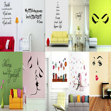 Lovely PVC Wall Stickers Quote Removable Vinyl Decal Art Mural DIY Home Decor