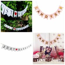 Sweet Just Married / Candy Bar Garland Bunting Banner Wedding Party Decorations