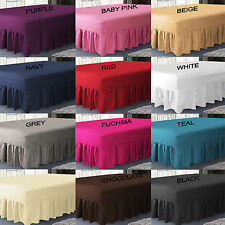 Plain Dyed Extra Deep-Fitted Valance Sheet-Poly-Cotton Bed Sheet In All Sizes