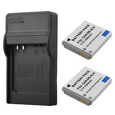 2x NB-6L Camera Battery + Charger For Canon IXUS 310 SX240 SX280 SX510 SX500 S95