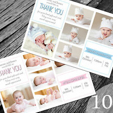 Personalised New Baby Thank You Cards / Announcement (NB10)