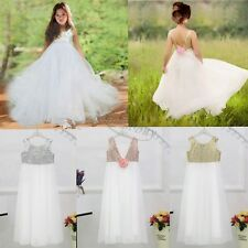 Gold Sequins Flower Girl Dress Floor Length Special Occasion Birthday Prom Gown