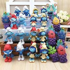 The Smurfs The lost Village Papa Smurfette Clumsy Action Figures Cake Topper Toy